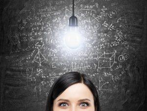 woman calculating sales conversion ratio