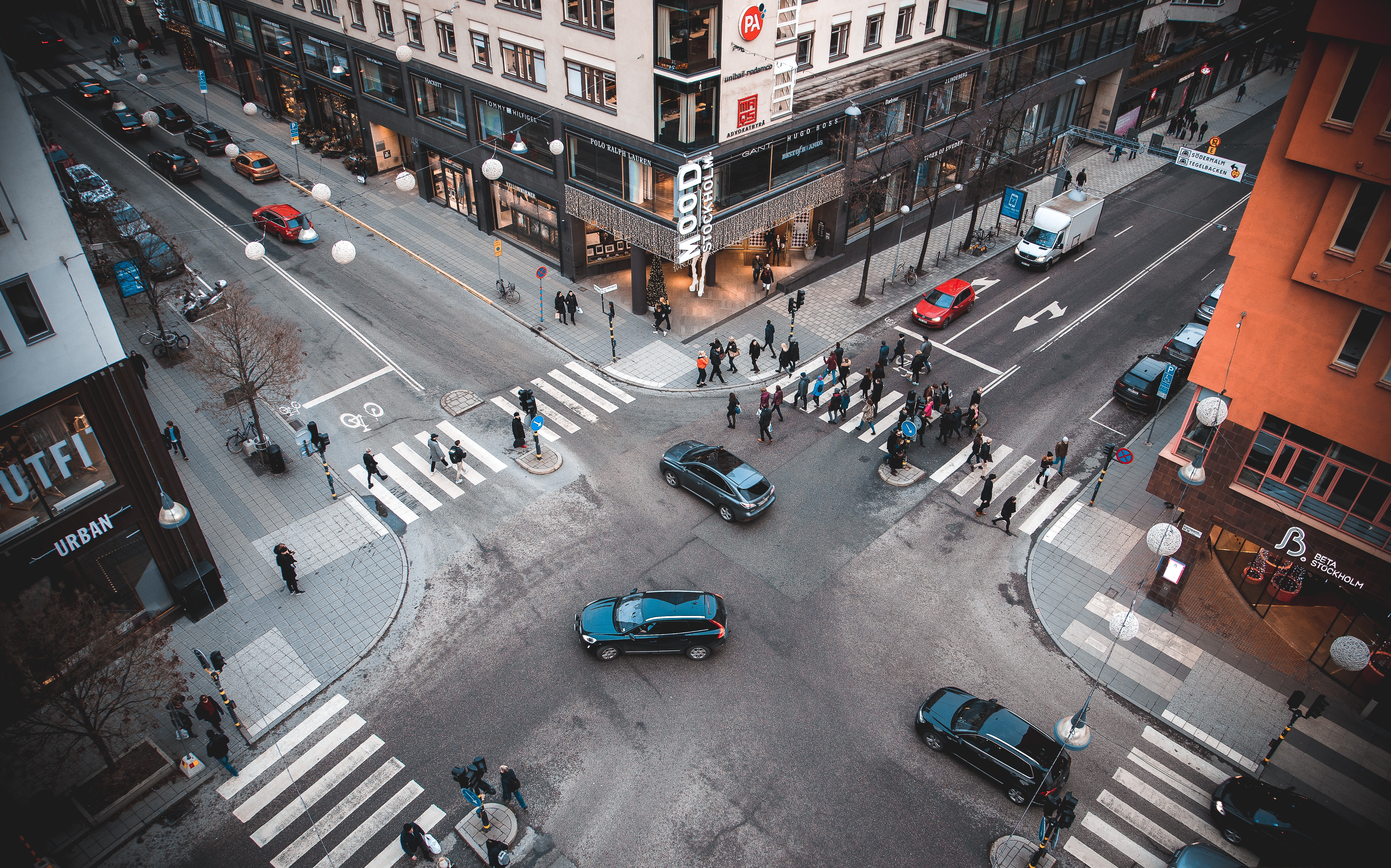 People walking on the streets