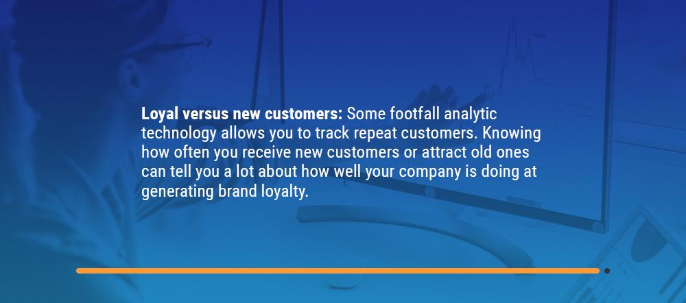 Loyal versus new customer data