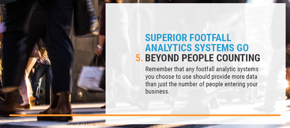Footfall analytic systems go beyond people counting