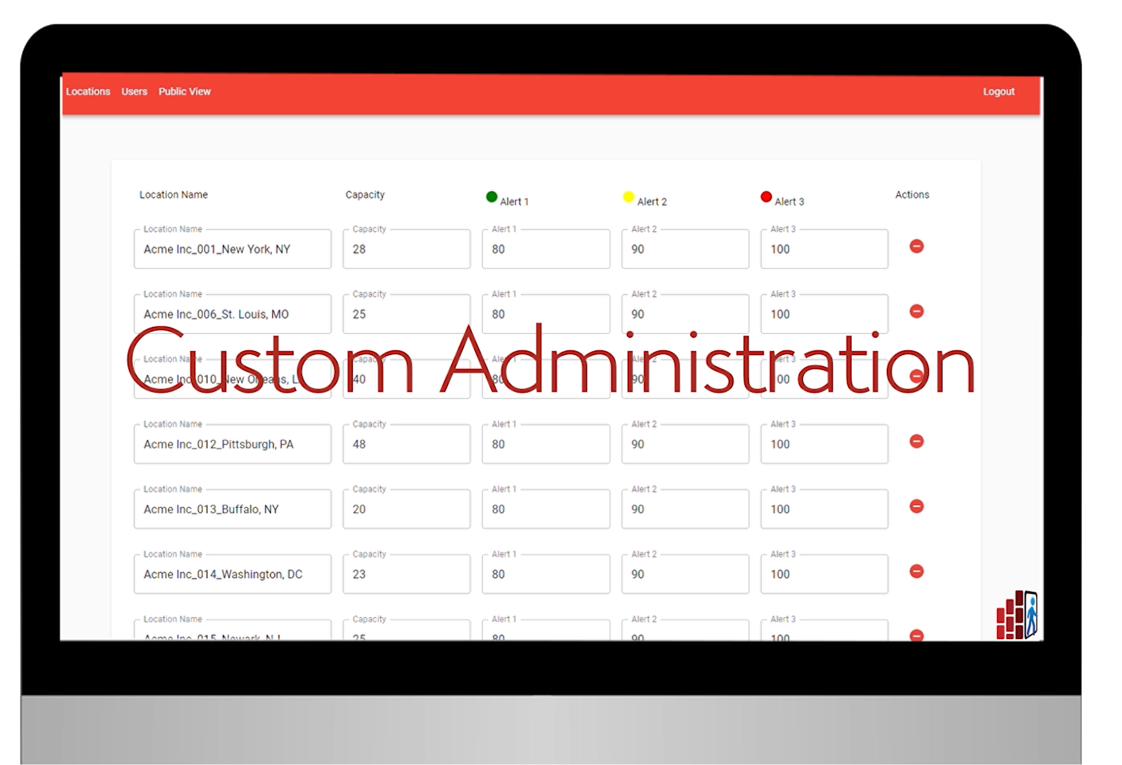custom administration graphic on a computer