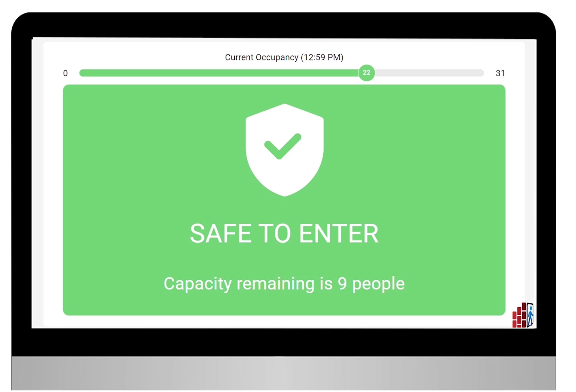 Safe to enter graphic on a computer